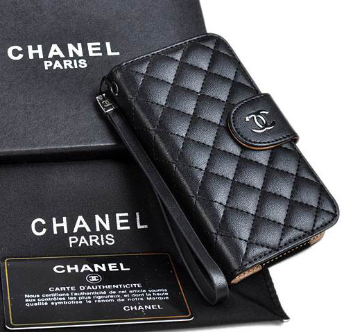 buy online a18dc 445c7 Classic chanel iphone x 8 7 6s plus cases napa wallet black ...