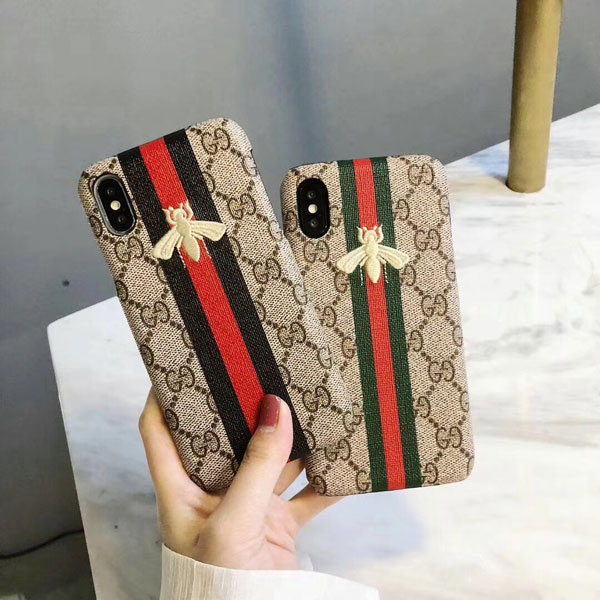 8a3073554dbdf Bee embroidery gucci iphone x xs xr xs max 6 6s 7 8 plus case cover ...