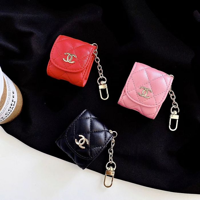 Leather Chanel Airpods 1 2 Pro Case Cover Yescase Store